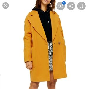 NEW Topshop Carly Mustard Trench Coat Oversized